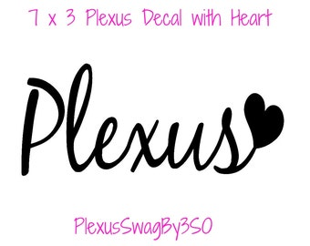 Large Plexus with Heart Decal