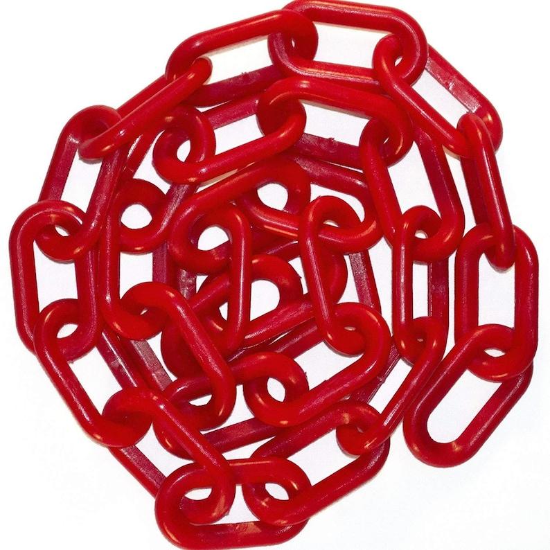 100 feet-Red 1  Plastic Chain