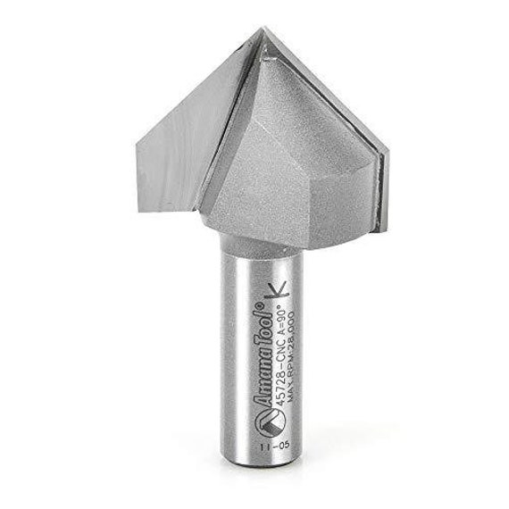 """3 NEW  1//4/"""" D 90 degree V-groove Carbide Tipped Router Bit 1//4/"""" Shank qw"""