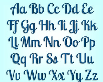 Beach Bum Machine Embroidery Font Monogram Alphabet, Cursive Script Embroidery Font, Sports Embroidery Font, BX Format Included!! - 3 Sizes