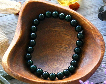 ONE Green Goldstone Crystal Bracelet Heart Chakra Healing Stone Meditation Gift For Wife Yoga Jewelry Birthday Gift For Aunt Reiki