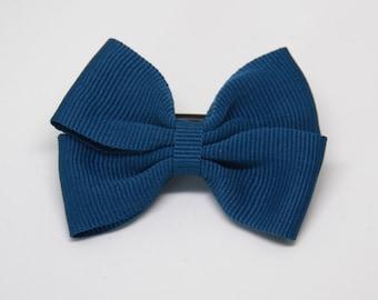 Peacock Color Butterfly ribbon bow hair clip/ Non-slip hair clip/ Newborn hair bow/ Baby hairclip/ Infant hair clip/ Handmade