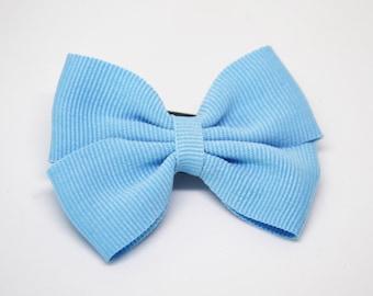 Sky Blue Classic Butterfly ribbon bow hair clip/ Non-slip hair clip/ Newborn hair bow/ Baby hairclip/ Infant hair clip/ Handmade