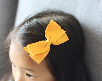 Large size Boutique bow ribbon bow hair clip/ Non-slip hair clip/ Newborn hair bow/ Baby hairclip/ Infant hair clip/ Handmade