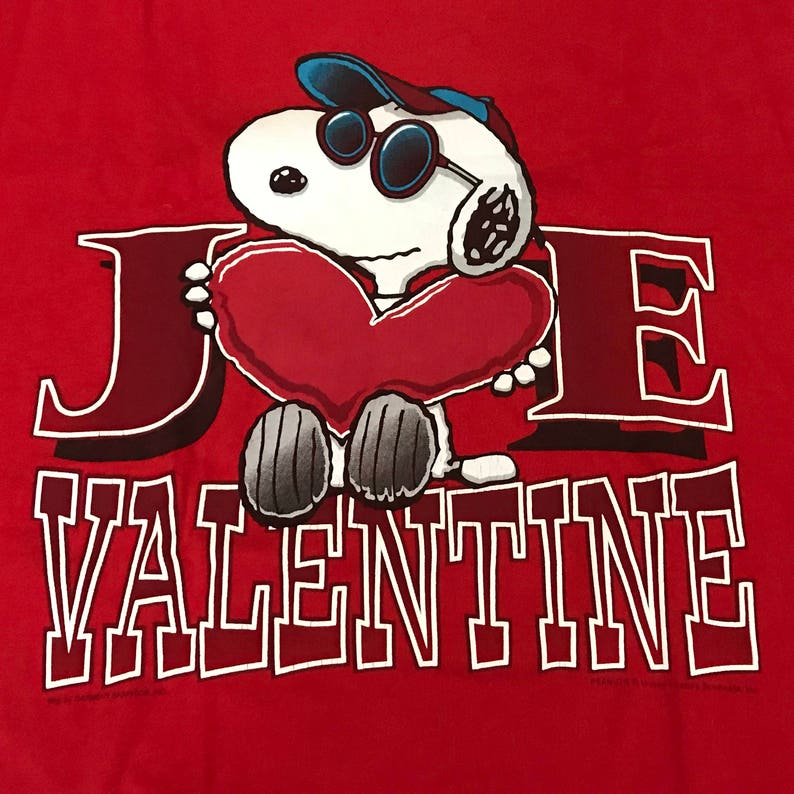 10ee82c9f Vintage Snoopy Joe Valentine Graphic T Shirt Adult XL Retro