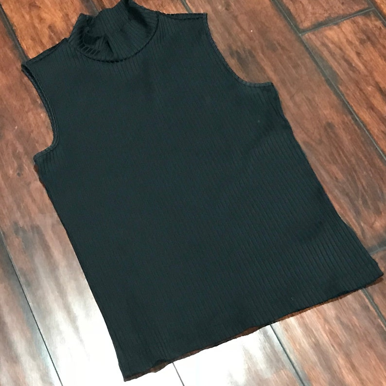 d150ac38ee90b3 Vintage 90s Kathy Ireland Ribbed Top Womens S Small Solid