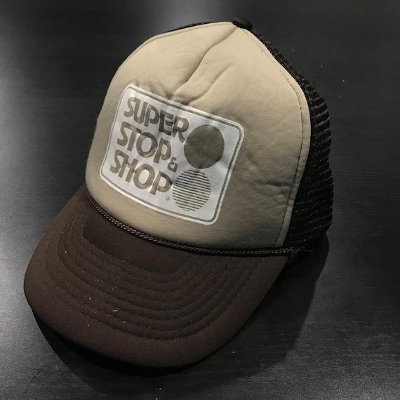 Retro Vintage Super Stop and Shop Employee Trucker Hat  d7614878e241