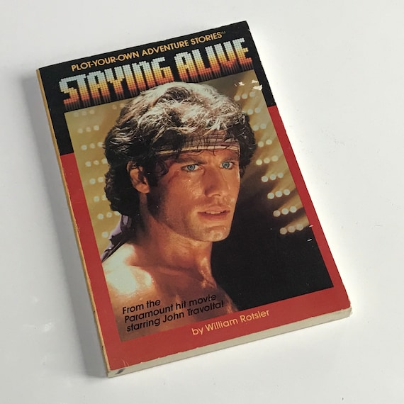 Rare Vintage 80s John Travolta Staying Alive Choose Your Own Etsy
