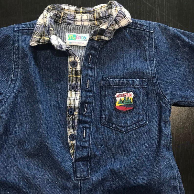 4946085fff38 RARE Vintage 80s McBaby Jean Jumpsuit 6-9 Months Infant One