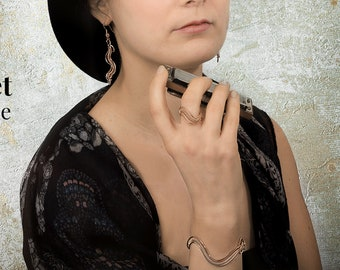 Spigola Adjustable Set bracelet, earrings and ring