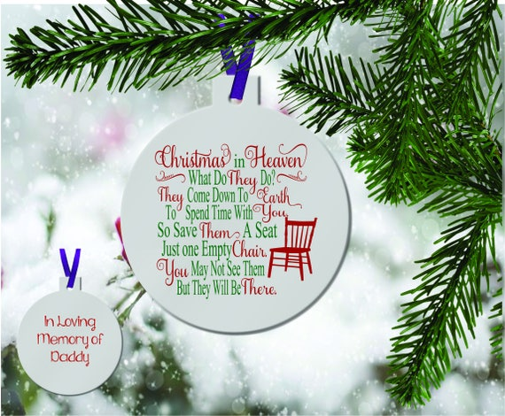 image 0 - Personalized Christmas In Heaven Ornament Memoy Ornament Etsy