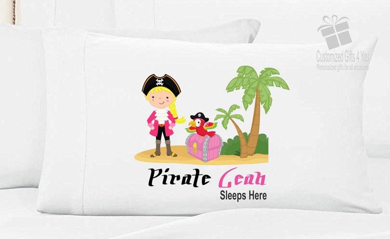 Girls Personalized Pirate Pillow Case Pirate Pillowcase
