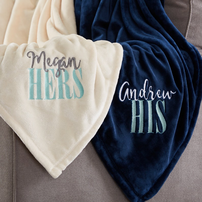His or Hers Personalized 50x60 Fleece Blanket