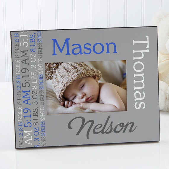 Darling Baby Boy Personalized Picture Frame Etsy