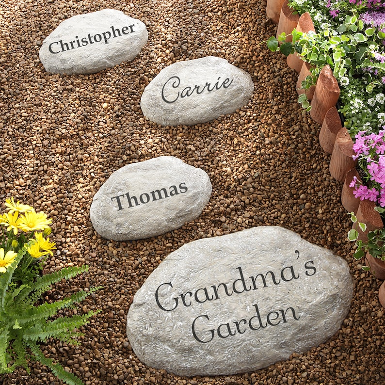 You Name It Personalized Garden Stones