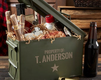 Authentic Personalized Ammo Box, Groomsmen Gifts, Gifts for Men, Father's Day Gifts