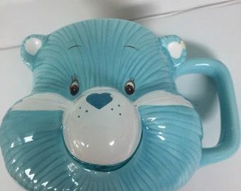 Bedtime Bear Vintage Care Bears Baby Blue American Greetings Cup