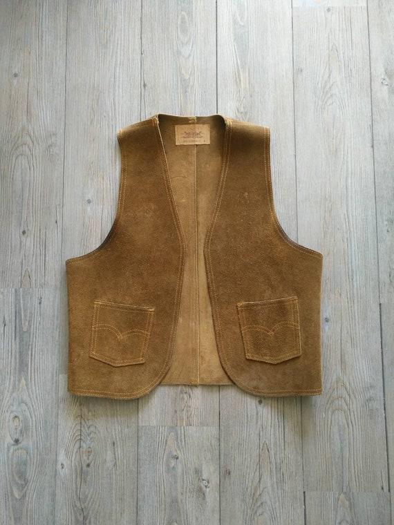 1960s Levi's Leather vest original vintage