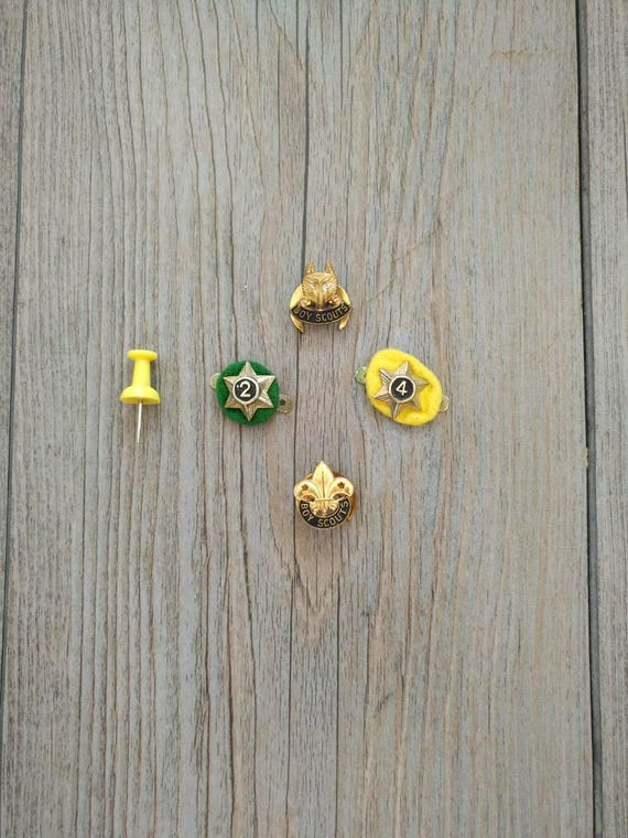 Vintage Boy Scouts Pins 50s/60s all 4 - image 1