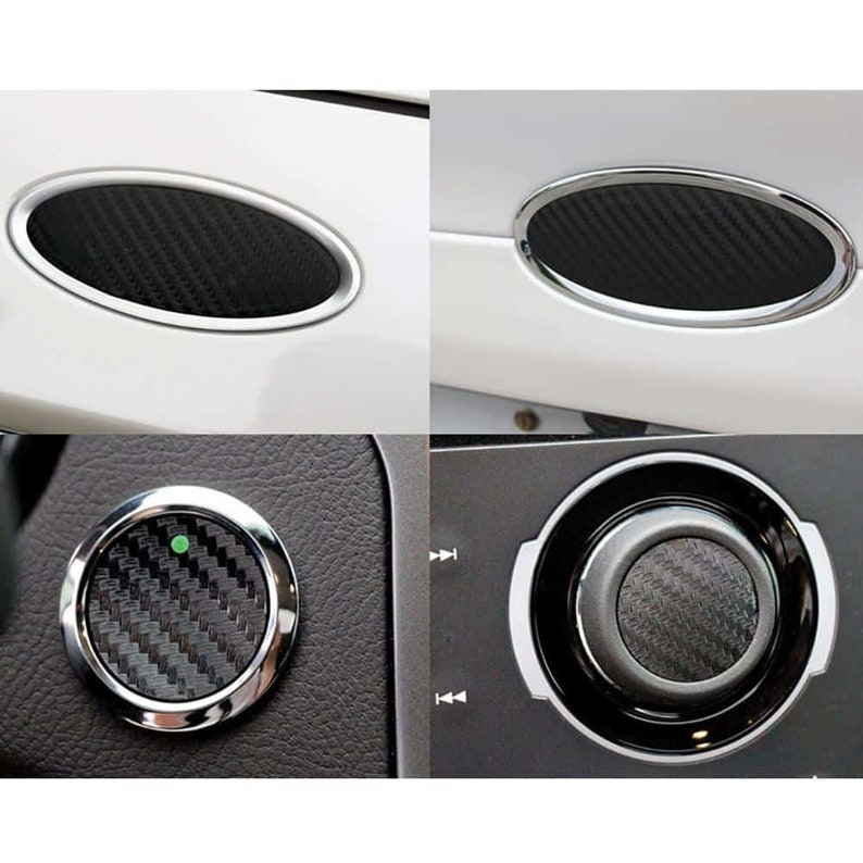 2013-2019 Ford Fusion Carbon Fiber Insert Bundle (Black)