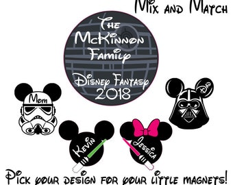 Custom Star Wars Disney  Inspired Cruise Magnet - Personalized Door Magnet - Sign