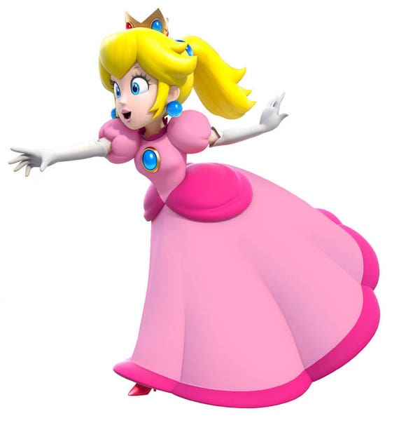 Princess Peach Super Mario Bros Truck Car Window Wall Etsy