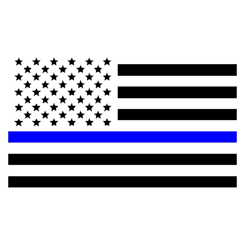 Line Of American Flag Wiring Diagrams Figure 614sample Diagram Thin Blue Law Enforcement Car Window Etsy Rh Com Art