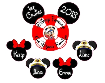 Custom Disney  Inspired Cruise Magnet, Personalized Door Magnet, Sign,