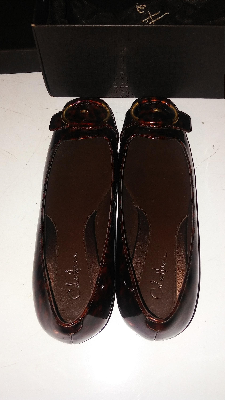 5bda89287c01 COLE HAAN Tortoise Air Genie Patent Leather Ballet Flat Shoes
