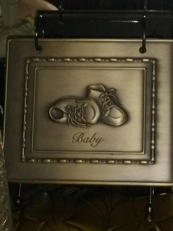 Burnes Of Boston Silver 4x6 Baby Shoes Flip Photo Album Etsy