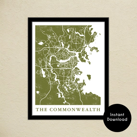 Fallout 4 The Commonwealth Map Print | Digital Download