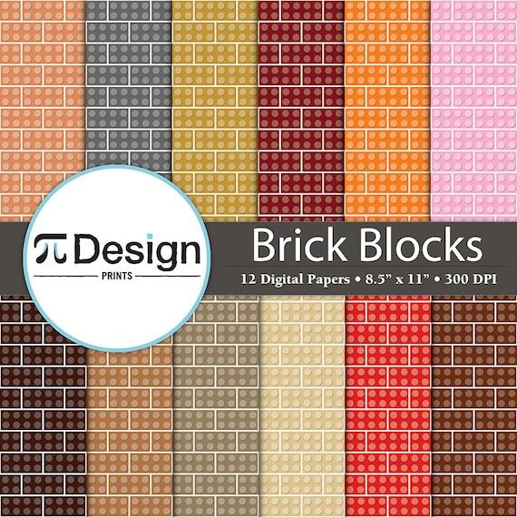 Lego Bricks 85x11 Digital Paper Printables 12
