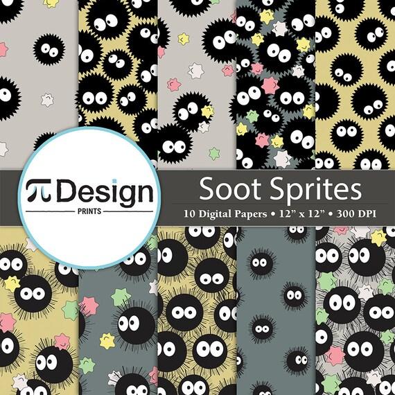Ruß Sprite-Muster-Papier-Set 12 x 12 digitales | Etsy