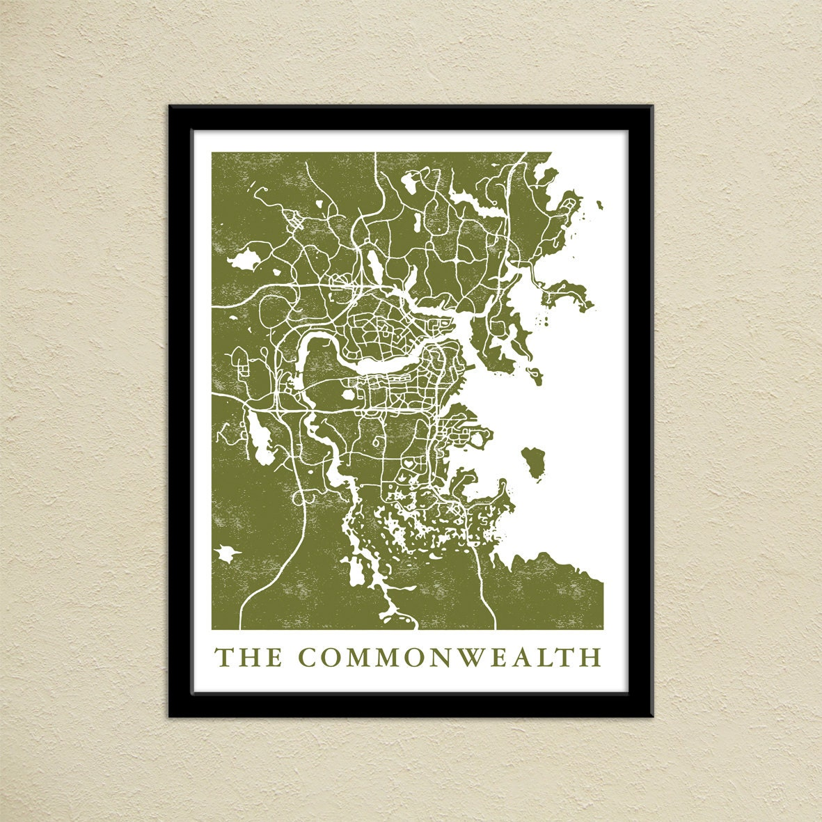 Fallout 4 The Commonwealth Map Print Gamer Christmas Present | Etsy