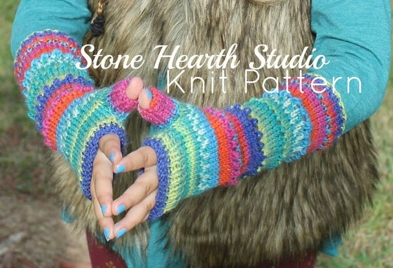 Crazy Fun Hand Warmer Patternknitted Hand Warmer Etsy