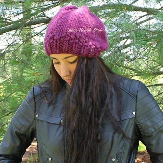 b0681bb7889 JOBO SLOUCHYKnitted Hat PatternEasyOne SkeinSlouchy Hat