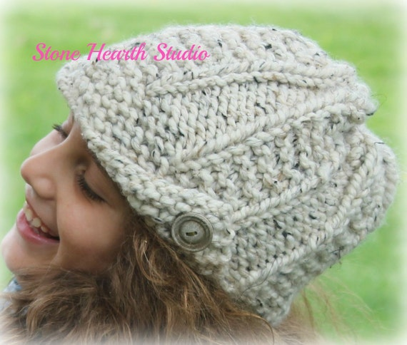 Peytonbrimmed Hatknitted Hat Patterneasyone Etsy