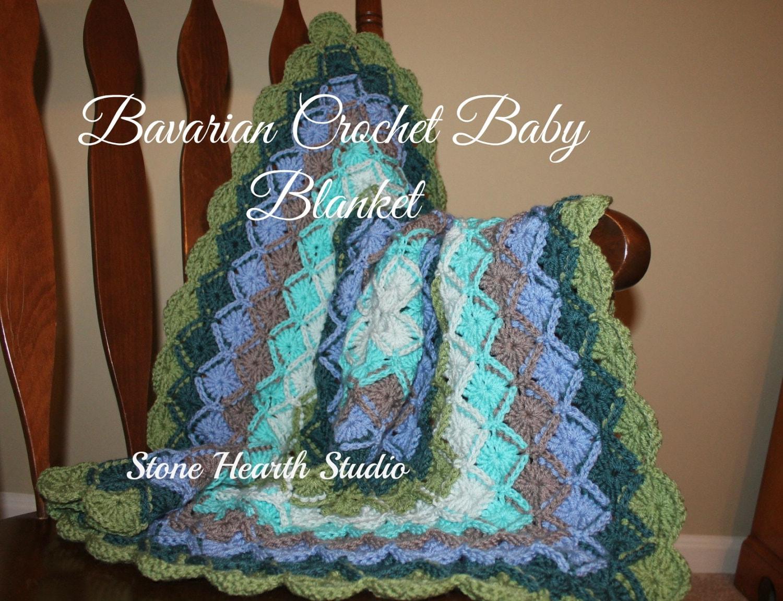 Bavarian Crochet Baby Blankethandmadethickbeautifully Etsy