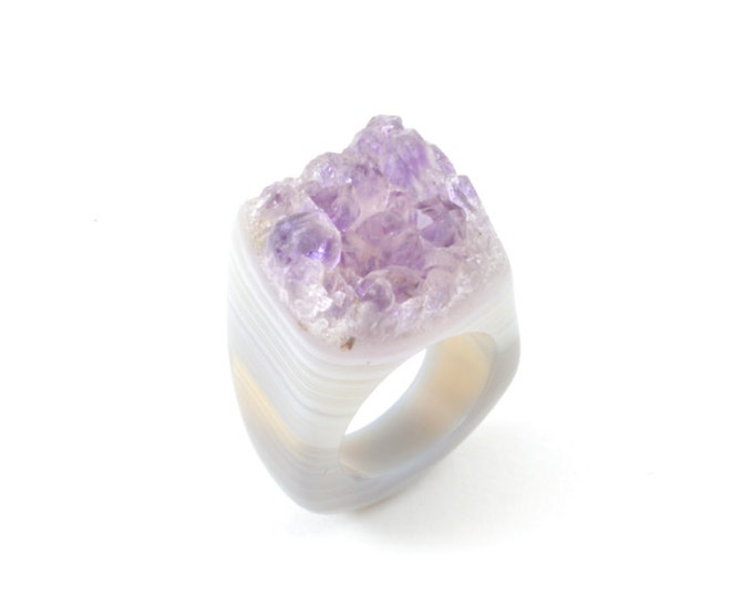 Featured listing image: Size 6 Amethyst Ring
