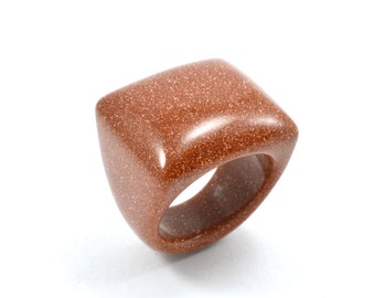 Size 9.5 Goldstone Ring