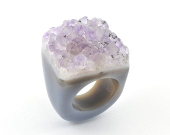 Size 5.75 Agate Ring