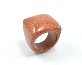 Size 9 Goldstone Ring