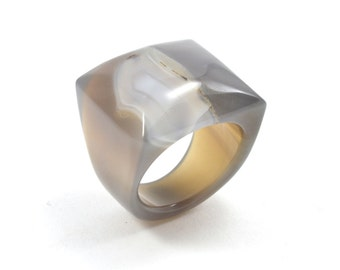 Size 9.5 Agate Ring