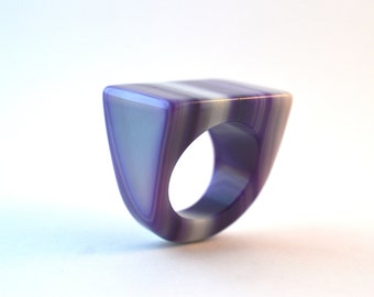 Size 8.75 Agate Ring