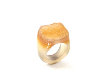 Size 8.25 Agate Ring