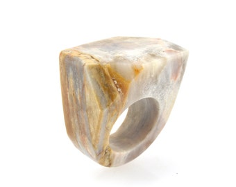 Size 7.5 Petrified Wood Ring