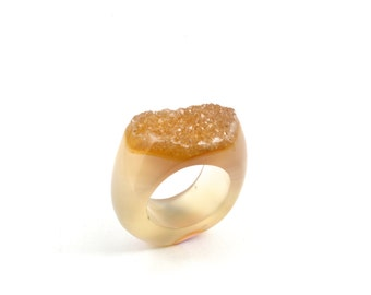 Size 7.25 Agate Ring