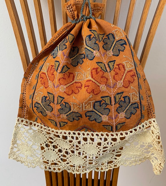 Antique Arts and Crafts Hand Embroidered Trousseau