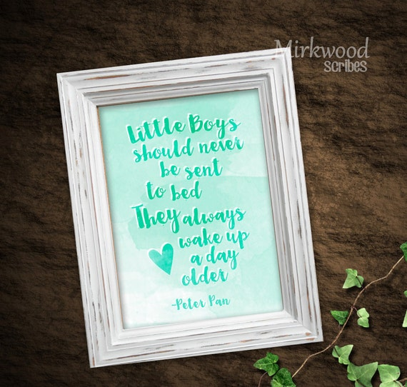 Peter Pan Little Boy Printable Neverland Baby Shower Sign | Etsy