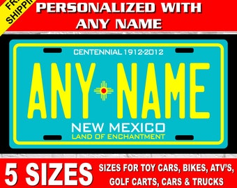 Road Runner Teal New Mexico Novelty Metal License Plate